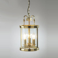 Dar LAM0340 Lambeth 3 Polished Brass Ceiling Lantern