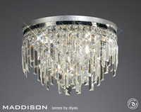 Diyas IL30251 Maddison 6 Light Ceiling Light Polished Chrome/Crystal