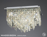Diyas IL30252 Maddison 6 Light Ceiling Polished Chrome/Crystal
