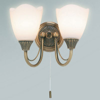 Endon 601-2AN 2 Light Wall Light Antique Brass