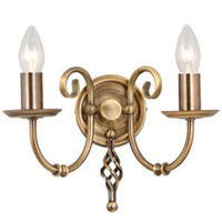 Elstead ART2 AB Artisan 2 Light Wall Light Antique Brass