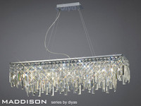 Diyas IL30255 Maddison 6 Light Crystal Ceiling Pendant Polished Chrome