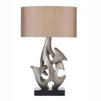 Dar SAB4332/X Sabre 1 Light Antique Silver Table Lamp