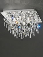 Franklite CF5722 6 Light Flush Bathroom Crystal Ceiling Light
