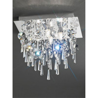 Franklite CF5721 4 Light Flush Bathroom Crystal Ceiling Light