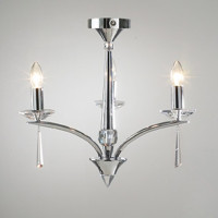 DAR HYP0350 Hyperion 3 Light Polished Chrome Ceiling Pendant
