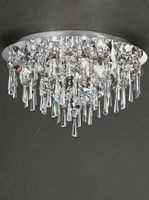 Franklite CF5720 6 Light Flush Bathroom Crystal Ceiling Light