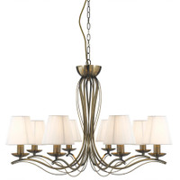 Searchlight 9828-8AB Andretti 8 Light Ceiling Light Antique Brass