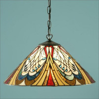 Interiors 1900 T13SHL/SU02 Hector Tiffany 1 Light Pendant