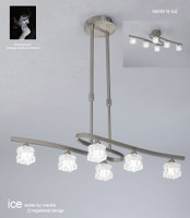 Mantra M1851 ICE 6 Light Ceiling Light Satin Nickel