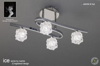 Mantra M1843 ICE 4 Light Semi-Flush Ceiling Light Polished Chrome