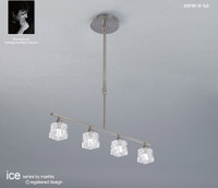 Mantra M1857 ICE 4 Light Ceiling Pendant Satin Nickel