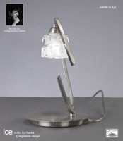 Mantra M1856 ICE 1 Light Table Lamp Satin Nickel