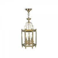 Dar MOO0340 Moorgate 3 Light Cast Brass Ceiling Lantern