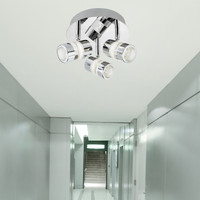 Searchlight 4413CC Bubbles 3 Light Bathroom Ceiling Light Chrome