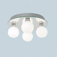 Searchlight 4337-4 4 Light Bathroom Ceiling Light Polished Chrome