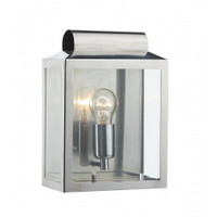 Dar NOT2144 Notary 1 Light Wall Light Stainless Steel