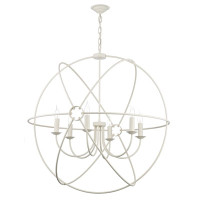Dar ORB0633 Orb 6 Light Ceiling Pendant Cream