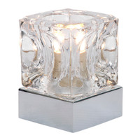 ICE CUBE Touch Table Lamp Polished Chrome