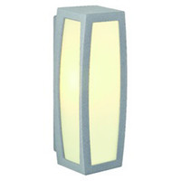 Meridian Box Outdoor Wall Light Silver Grey