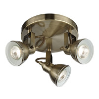 Searchlight 1543AB Focus 3 Light Antique Brass Spot Light
