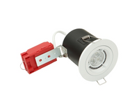 Mains Voltage Recessed Downlight 240Volt White 50W FIRE RATED