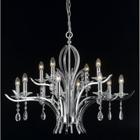 Impex CF911231/8+4/CH Turin 12 Light Crystal Chandelier