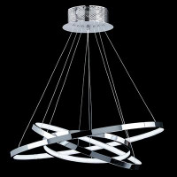 Endon KLINE-3CH Kline LED Ceiling Pendant Chrome