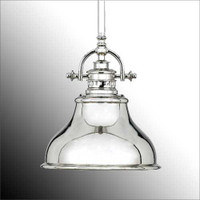 Elstead Emery QZ/EMERY/P/S IS 1 Light Small Pendant Imperial Silver