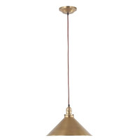 Elstead Provence PV/SP AB 1 Light Pendant Antique Brass