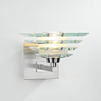 DAR STI0746 Stirling Wall Light Polished Chrome & Glass
