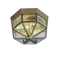 Searchlight 8235AB Flush Ceiling Light Antique Brass
