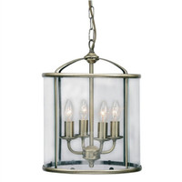 Oaks 351/4 AB Fern Antique Brass Ceiling Lantern