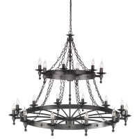 Elstead WR18  Warwick 18 Light Graphite Black Chandelier