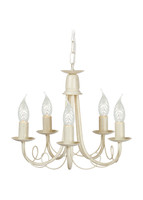 Elstead MIN5 IV/GLD Minster Chandelier 5 light Ivory Gold