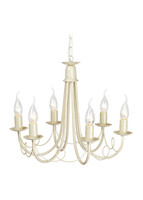 Elstead MIN6 IV/GLD Minster Chandelier 6 light Ivory Gold