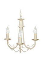 Elstead MIN3 IV/GLD Minster Chandelier 3 light Ivory Gold