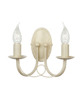Elstead MIN2 IV/GLD Minster Chandelier Twin Wall light Ivory Gold