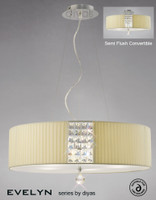Diyas IL31174/CR Evelyn Round Pendant Cream