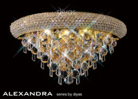 Diyas IL32101 Alexandra 3 Light Crystal Wall Light French Gold