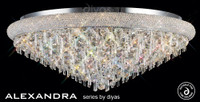 Diyas IL31449 Alexandra 18 Light Crystal Ceiling Light Polished Chrome