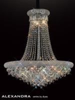 Diyas IL31452 Alaxandra 18 Light Polished Chrome Ceiling Pendant