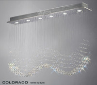 Diyas IL31380 Colorado 6 Light Linear Crystal Pendant