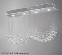 Diyas IL31379 Colorado 4 Light Linear Crystal Pendant