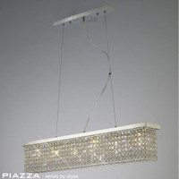 Diyas IL30433 Piazza 6 Light Crystal Ceiling Pendant