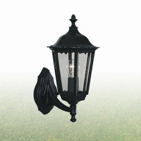 Searchlight 82530BK Alex Outdoor Wall Light Black