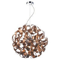 Dar RAW1364 Rawley 9 Light Brushed Satin Copper Pendant
