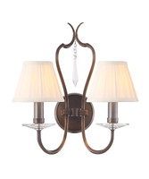 Elstead PM2 DB + LS162 Pimlico 2 Light Dark Bronze Wall Light
