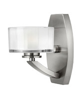 Elstead Hinkley HK/MERIDIAN1 Meridian 1 Light Wall Light Brushed Nickel