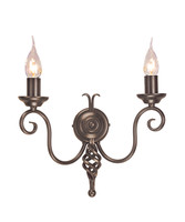 Elstead HR2/A DB Harlech 2 Light Bronze Wall Light